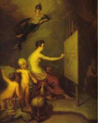 «Аллегория живописи» 1725г. Дерево, масло. ГРМ
