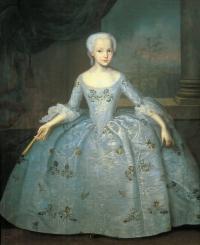 Портрет Сарры Фермор. X., м. 138X114,5. 1749. ГРМ.