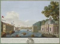 Вид на Фонтанку, 1753.  Гравюра.