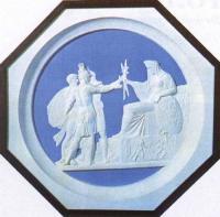 Народное ополчение 1812 года. 1816. Медальон. Воск