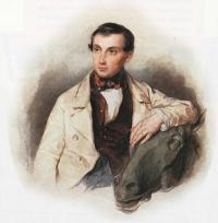 Чей портрет работы Соколова П.Ф.?