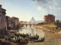 Чей пейзаж «Новый Рим. Замок св. Ангела»?