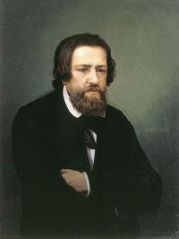Чей портрет работы С. П. Постникова созданный около 1873г.?