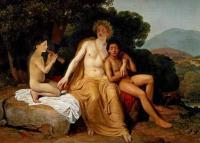 Кто автор картины «Аполлон, Гиацинт и Кипарис, занимающиеся музыкой и пением»?