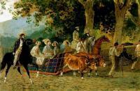 «Прогулка» 1849г. Акварель. Государственная Третьяковская галерея