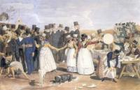 «Октябрьский праздник в Риме у Понте Молле» 1842г.
