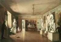 Мастерская художника А.Г. Венецианова в Петербурге. 1827 год