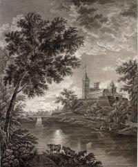«Вид крепости города Павловска при лунном сиянии» (1800)