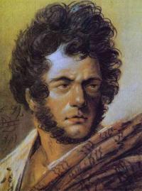 Чей автопортрет рисованный углем, сангиной и мелом в 1809г.?