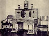 Бюро, кресло, стул тополевого дерева. 1825. Екатерининский дворец-музей, г. Пушкин