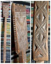 Лопасть от составного этого предмета с трехгранно-выямчатой резьбой. XIX век.