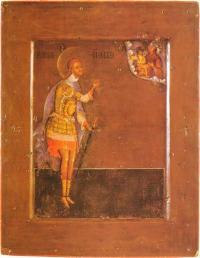 Никита Воин. Строгановская школа. 1593 г. 29 × 22 см. ГТГ