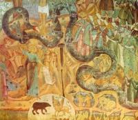Откуда эта роспись 17 века «Страшный суд»?