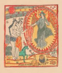 Из какой книги эта страница с изображением «Адама и Евы»?
