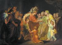 Великий князь Святослав, целующий мать и детей своих по возвращении с Дуная в Киев. 1773