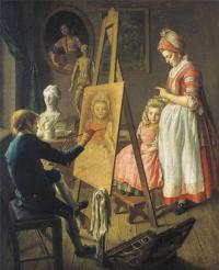 Кто автор произведения «Юный живописец»?