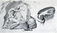 Чей рисунок «Дремлющего война»?