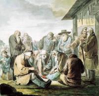 """«Поющие слепцы» Из серии """"Нищие"""" Не позднее 1775-го. Государственный Русский музей"""