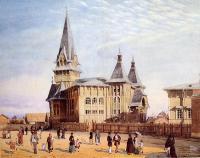 А.Н. Бенуа. Лютеранская церковь святой Марии на Петербургской стороне; перспективный вид. 1881 г.