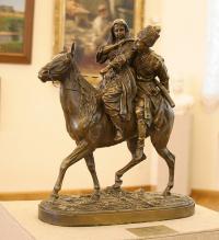 Черкес и женщина на лошади. Саратовский художественный музей им. А. Н. Радищева.