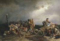 «Привал арестантов», (1861) — Государственная Третьяковская галерея.