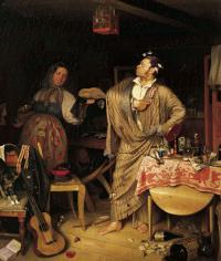 «Свежий кавалер». 1848.  ГТГ