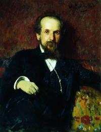 Чей портрет работы И. Е. Репина созданный им в 1878 г.?