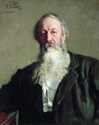 Чей портрет работы И. Е. Репина созданный им в 1883 г.?