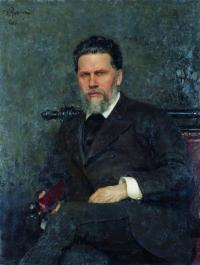 Чей портрет работы И. Е. Репина созданный им в 1882 г.?