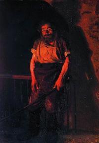 Кто автор картины «Кочегар»?