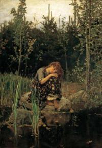 «Алёнушка» 1881г. Холст, масло 173 х 121 Государственная Третьяковская галерея