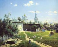 Кто автор картины «Московский дворик»?