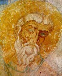 Откуда этот фрагмент новгородской живописи «Святитель» второй половины 12 в.?