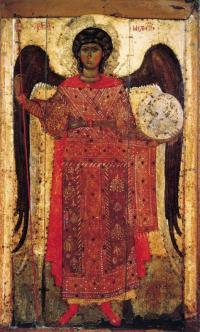 Архангел Михаил (лоратный). XIII век. Государственная Третьяковская галерея