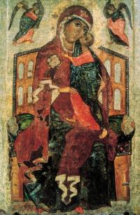 Толгская икона Божией Матери. XIII век. Государственная Третьяковская галерея