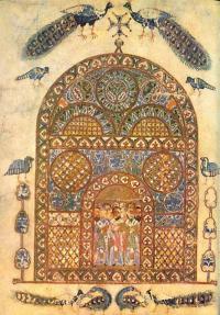 Из какой древнерусской рукописи 11 века  эта миниатюра?