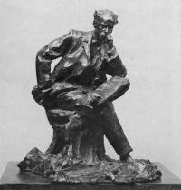 Кто автор скульптуры художника И. И. Левитана (1899)?