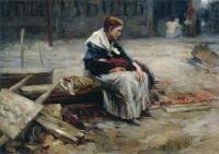 """Кто автор полотна """"Жена заводского рабочего"""" 1900?"""