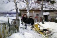 Кто автор этюда «Зимой» (1894)?