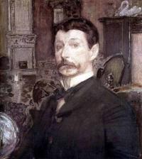 Чей автопортрет с жемчужной раковиной, написанный в 1905г.?