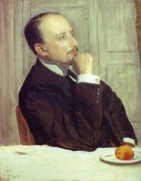 Чей портрет кисти Б. М. Кустодиева (1913)?