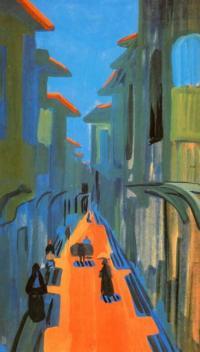 Кто автор пейзажа «Улица. Полдень. Константинополь»?