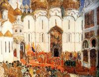 Кто автор эскиза декорации к опере М. П. Мусоргского «Борис Годунов»?