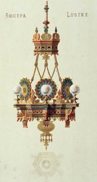Кто автор эскиза люстры в «псевдорусском стиле»?