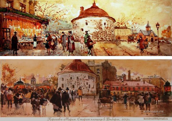 Старый Выборг. Рыночная площадь, Круглая башня.