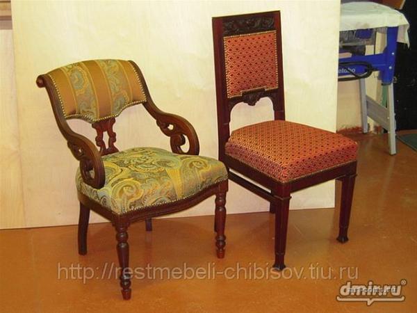 Кресло и стул после реставрации