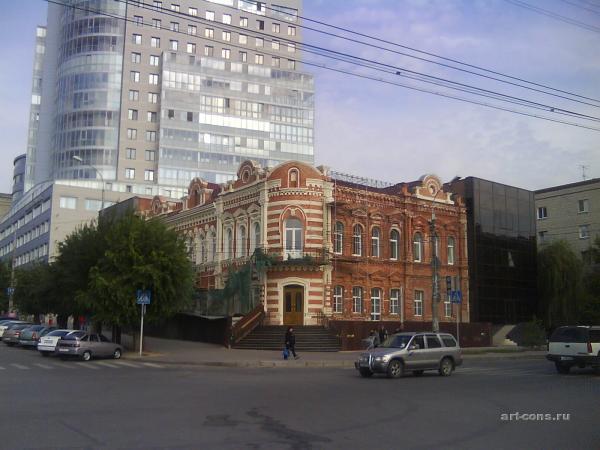 Вид Дома бр. Серебряковых в процессе реставрации. Фото 2009 г.