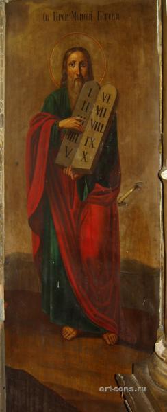 Святой Пророк Моисей со скрижалями до реставрации