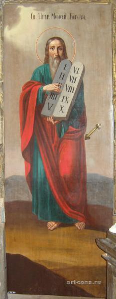 Святой Пророк Моисей со скрижалями после реставрации