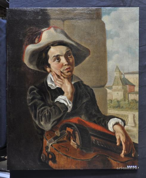 Мальчик с мандолиной после реставрации